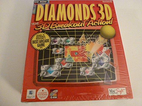 Diamonds 3D Arcade CD-Rom for MAC Video Game (Very - Wizard 3d Video