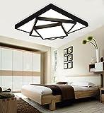 DIDIDD Ceiling light- led creative modern minimalist atmosphere thin rectangular living room master bedroom ceiling --home warm ceiling lamp,LED Light Source-40cm
