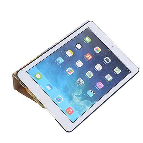 inShang 9.7 inch iPad (2017) Fundas soporte y carcasa para Apple 9.7 inch iPad (2017) , smart cover PU Funda ,art style Cypress