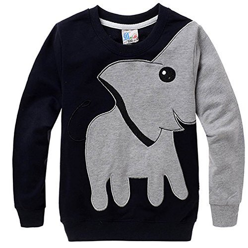 CMGD Little Boys Kids Sweatshirt Elephant Active Sweaters Pullover Tops