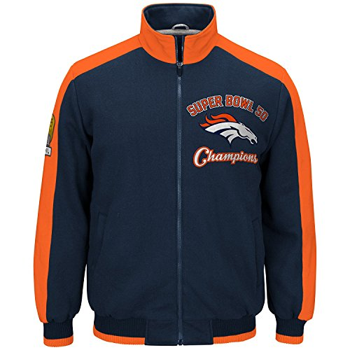 Denver Broncos NFL Men's Super Bowl 50 Champions Commemorative Fleece Jacket (Small) - Denver Broncos Costumes