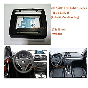 ZWNAV 2 Din Car Radio fascia for 1-Series E81 82 87 88 2007
