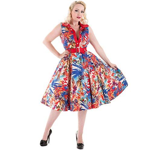 H amp;R Amazon London Floral Kleid Vintage rrw08Zqd