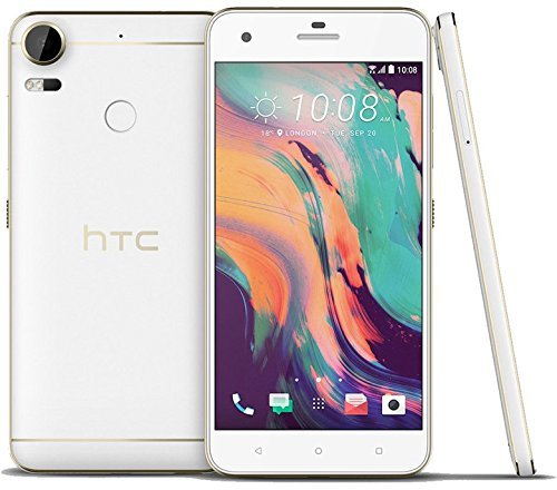 HTC Desire 10 Pro D10i 64GB Polar White, 5.5 Inch, Dual Sim, GSM Unlocked International Model, No Warranty by HTC