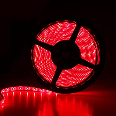 TOOGOO(R) 5M 3528 SMD 300 LED 60LED/M Flexible Strip Light Christmas Deco Red Waterproof