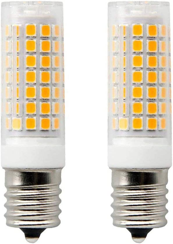 E17 LED Bulb Microwave Oven Light,Dimmable,850 Lumens, Warm White 3000K, 8.5W (75W Halogen Equivalent), 88x2835 SMD AC110-130V(Pack of 2)