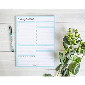 Daily To-Do List Notepad and Day Planner, 8.5'' x 11'' by Julianne & Co.