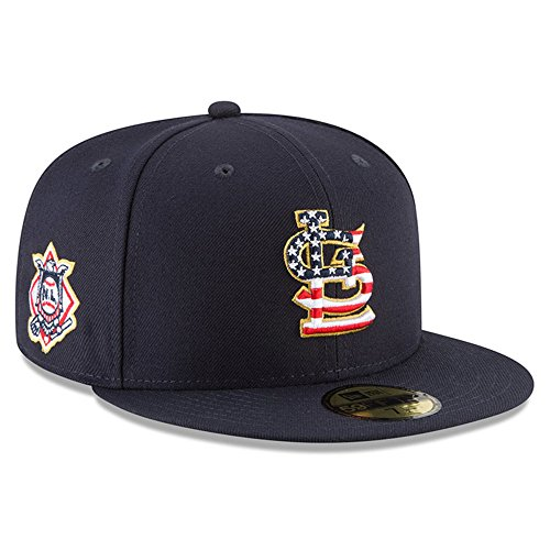 Mlb 59fifty Stars - New Era St. Louis Cardinals 2018 July 4th Stars and Stripes 59FIFTY On Field Fitted Hat 7 1/4