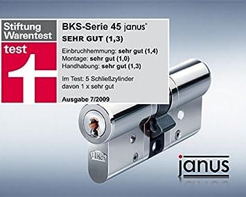 Bks Janus 45 Profil Doppel Schliesszylinder Version Chrom Nickel