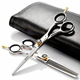 Professional Hairdressing Hair Cutting Scissors Set, Barber Hair Scissors Hair Straight Sharp Scissors Haidressing Shears 6.5 Inch Length Japanese 440C Stainless Steel
