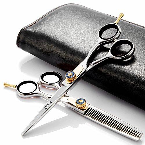 Professional Hairdressing Hair Cutting Scissors Set, Barber Hair Scissors Hair Straight Sharp Scissors Haidressing Shears 6.5 Inch Length Japanese 440C Stainless Steel by RNMMPI