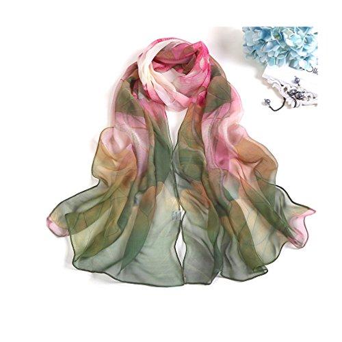 MELODY STORY Unique Print Silk F...