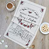 Royal Wedding Tea Towel/Kitchen Towel - 100% Cotton - Made in Britain