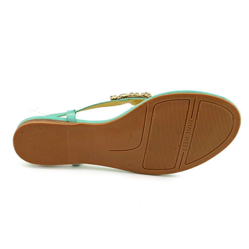 33a2255a2 Nine West Seahorse Womens Blue Open Toe Leather Slingback Sandals Shoes UK  4.5  Amazon.co.uk  Shoes   Bags