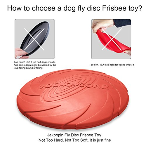 Dog frisbee fly toy, jakpak soft safety flying discs...