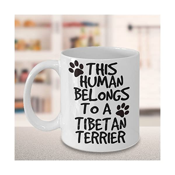 Tibetan Terrier Mug - White 11oz Ceramic Tea Coffee Cup - Perfect For Travel And Gifts 3