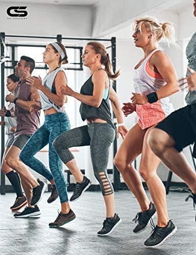 CelerSport 6 Pack Women's Ankle Running Socks Cushioned Low Cut Tab Athletic Socks