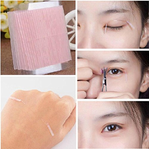 DZT1968 5 Sheet/230 bars charmful Natural Invisible Fiber Double Side Adhesive Eyelid Stickers Technical Eye Tapes