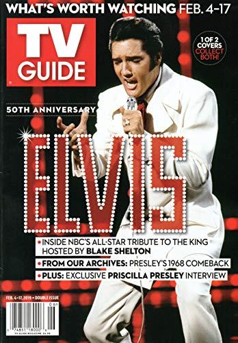 TV Guide Magazine February 4-17 2019 Elvis Presley (blk)