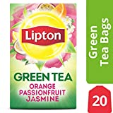 Lipton Green Tea Bags, Orange Passionfruit Jasmine, 20 ct (Pack of 6) For Sale
