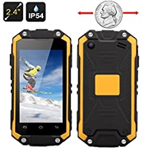 "Sudroid 2.4"" J5 World's Smallest Mini Waterproof Android Phone Dual SIM Bluetooth WIFI (Yellow)"