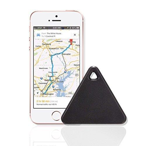 Key Finder, Zizon Bluetooth Wireless Key Finder Phone Tracker Wallet Pet Locator Device Anti Lost Motion Alert Bidirectional find (Black)