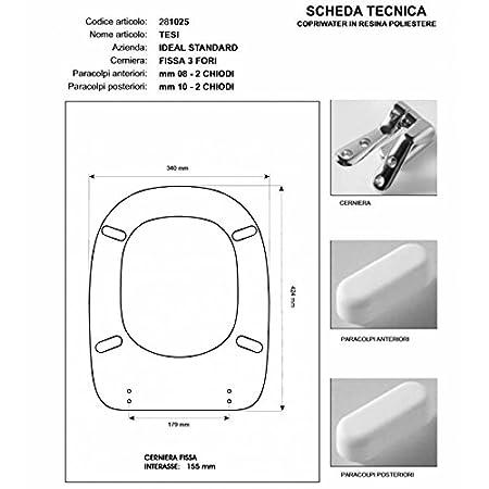 Sedile Water Ideal Standard Tesi.Tesi Ideal Standard Toilet Seat Red Bertocci Zip Cromo Sedile Asse