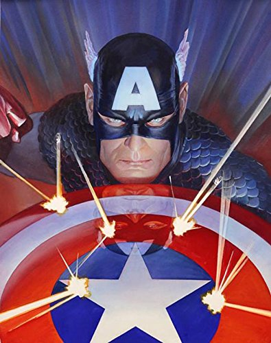 Marvel Visions: Captain America Signed by Alex Ross Framed Fine Art Canvas