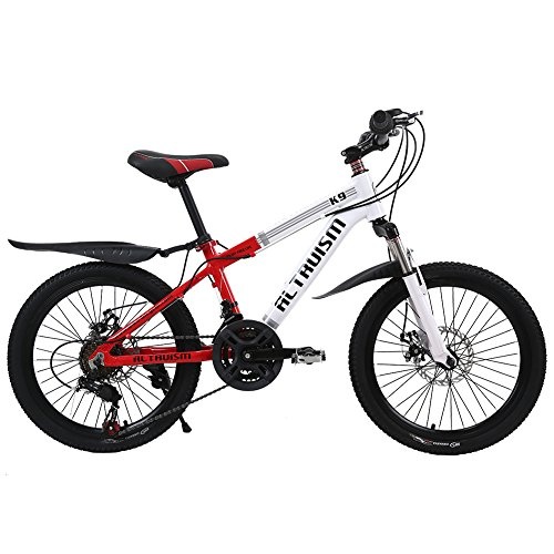 Altruism K9 Kids' Mountain Bicycle Aluminum Bikes Bicycles (Red, 21 speed 20 inch)