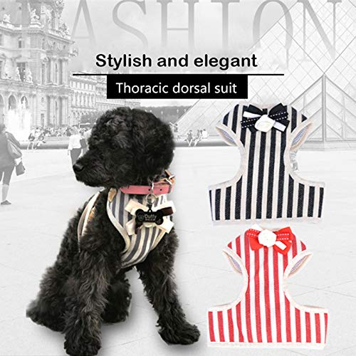 Pet Leash Chest Strap Pet Supplies Dog Interactive Toys Outdoor Run Ropes Stripe Cest Shape Bow-Knot Dog Clothing Toys S M L