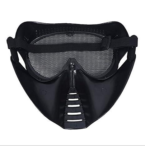 Ecloud Shop Mascara Protectora para la cara Airsoft Caza Juego Militar Mask: Amazon.es: Juguetes y juegos