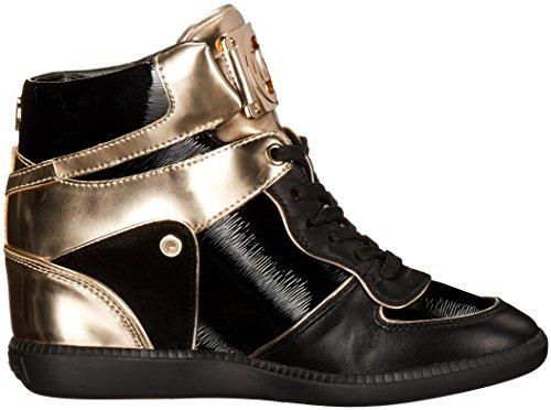 4a65a39098620 MICHAEL Michael Kors Women s Nikko High-Top Black Suprema Nappa Sport  Sneaker