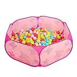 Toddler Ball Pit Kids Pop Up Pink Baby Ball Pit Playpen Indoor Hexagon - Best Reviews Guide
