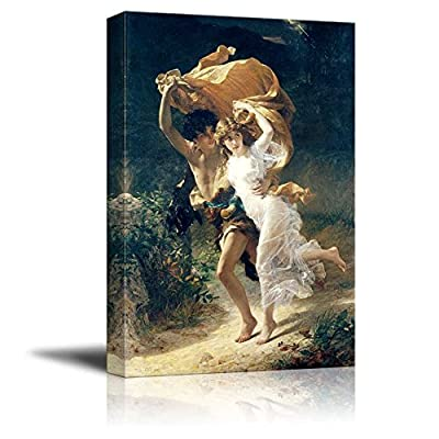 Pretty Design, Crafted to Perfection, The Storm by Pierre Auguste Cot Print Famous Painting Reproduction