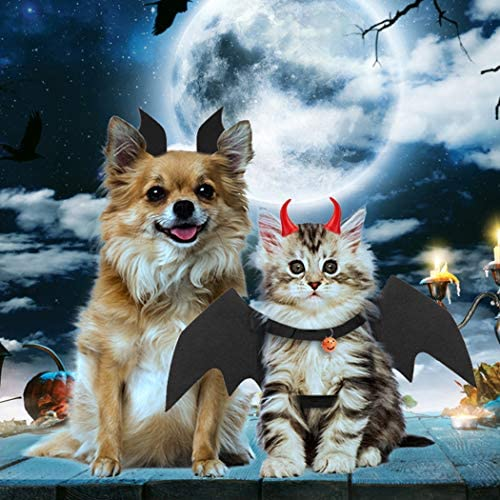 Legendog Cat Costume Halloween Bat Wings Pet Costumes Pet Apparel for Small Dogs and Cats (Bat Wings) 29