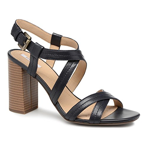 High Women Heeled Sandals D824WA 000TU Black Geox q8wFSE