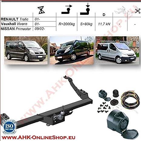 Für Opel Vivaro B Kasten//Minibus Anhängerkupplung starr+ESatz 13pol ABE
