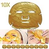 10pcs Gold Crystal Collagen Facial Mask Face Masks Moisture Essence Skin Care Review