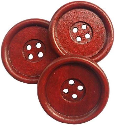Color de concha natural 19 mm Botones Costura Artesanía Tejer 2 agujero 2 por tarjeta