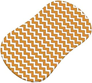 product image for SheetWorld Fitted Bassinet Sheet (Fits Halo Bassinet Swivel Sleeper) - Gold Chevron Zigzag - Made In USA