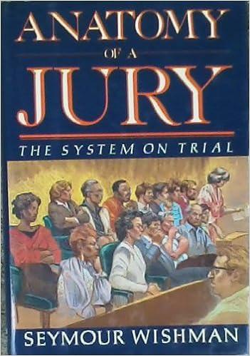 Anatomy Of A Jury The System On Trial Wishman Semour Amazon