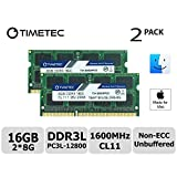 Timetec Hynix IC Apple 16GB Kit (2x8GB) DDR3L 1600MHz PC3L-12800 SODIMM Memory upgrade For MacBook Pro13-inch/15-inch