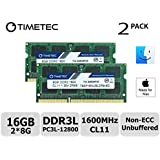 Timetec Hynix IC Apple 16GB Kit (2x8GB) DDR3L 1600MHz PC3L-12800 SODIMM Memory upgrade For MacBook Pro13-inch/15-inch Mid 2012, iMac 21.5-inch Late 2012/ Early/Late 2013(16GB Kit (2x8GB))