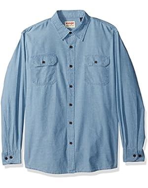 Authentics Men's Long-Sleeve Classic Woven Shirt