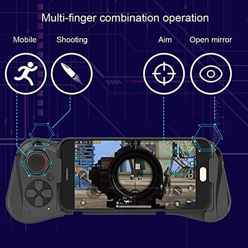 Z-COLOR Wireless Gamepad for Android, iOS draadloze Bluetooth Mobile Gaming Controller Gamepad Joystick met intrekbare Bracket Compatible