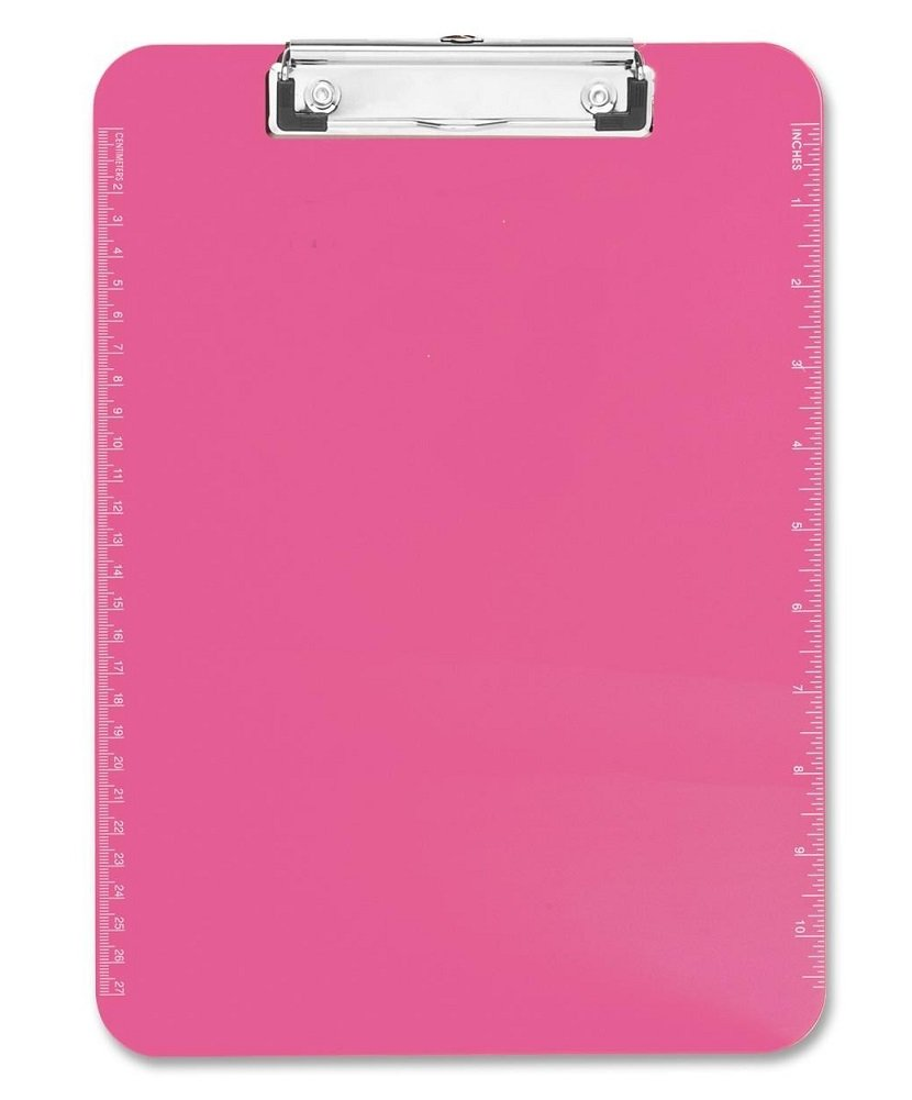 S.P. Richards Company Plastic Clipboard with Flat Clip, 9 x 12 Inches, Neon Orange (SPR01866) S.P. Richards CA