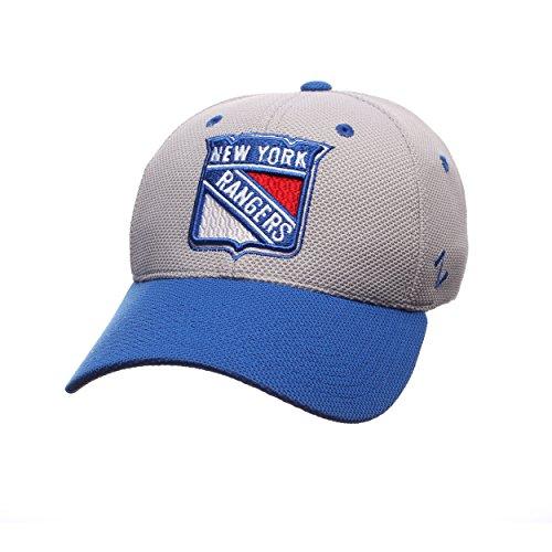 NHL New York Rangers Men's The Athlete Z-Fit Hat, X-Large, Grey/Royal
