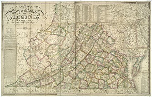 Historic 1827 Map | A map of the state of Virginia reduced from the nine sheet map of the state, in conformity to law | Virginia -- Maps | VirginiaMaps of North America. | Virginia