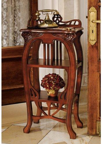 Art Nouveau European Antique Replica Tiered Occasional Side Accent Table