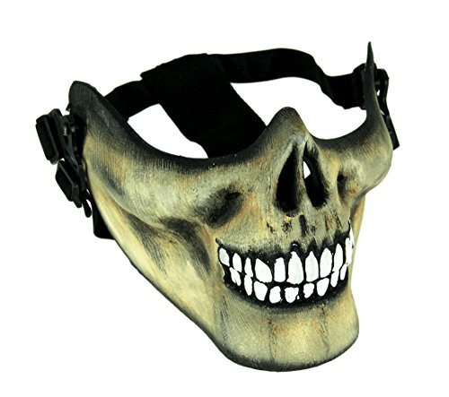 Adult Scary Zombie Skull Face Half Mask